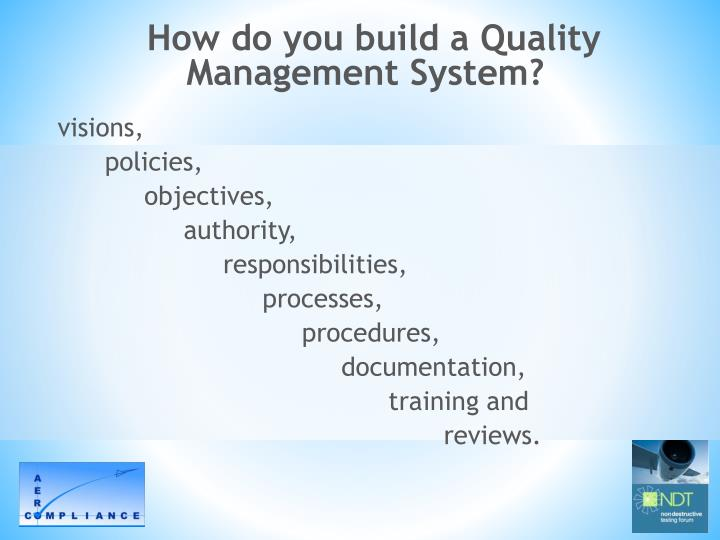 How do you build a Quality