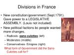 divisions in france