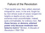 failure of the revolution