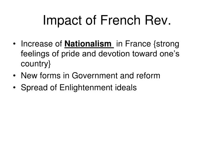 Impact of French Rev.