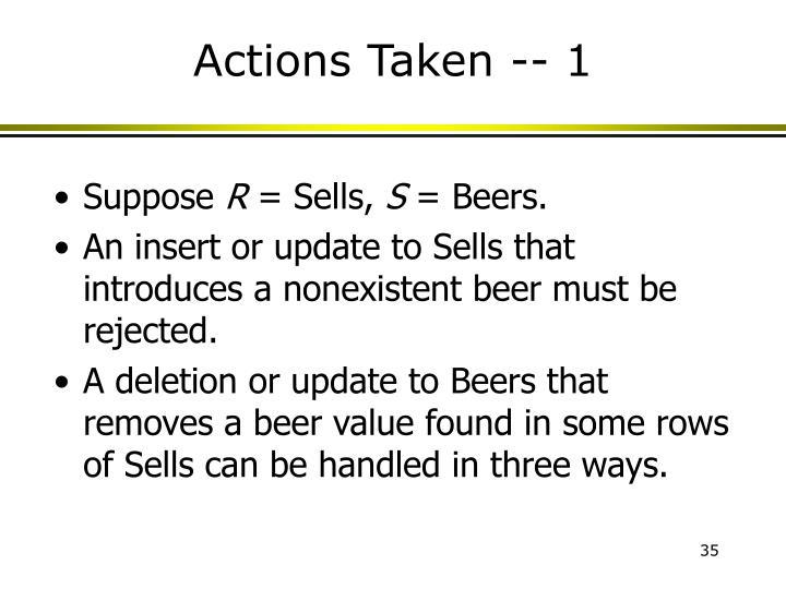 Actions Taken -- 1