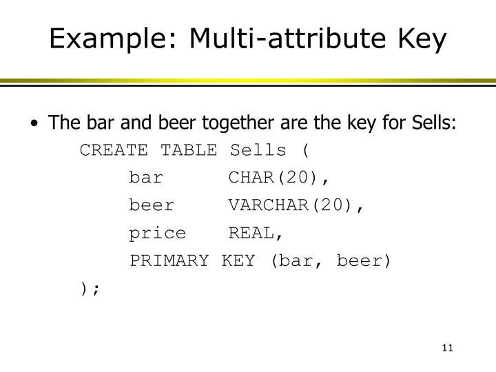 Example: Multi-attribute Key