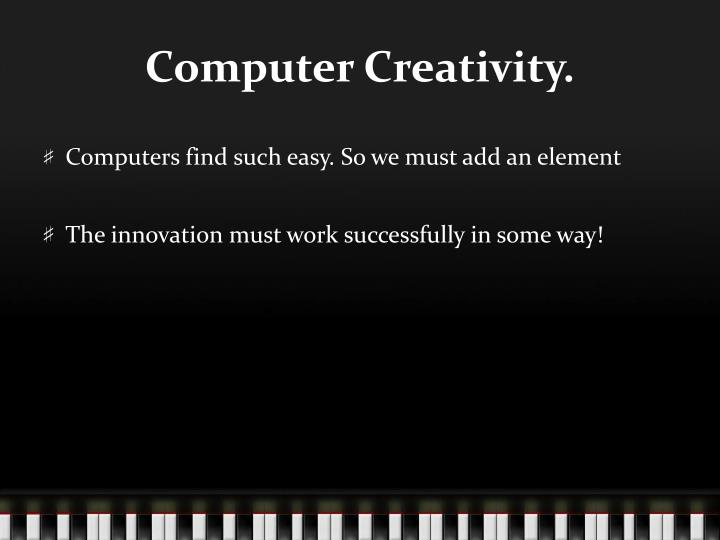 Computer Creativity.