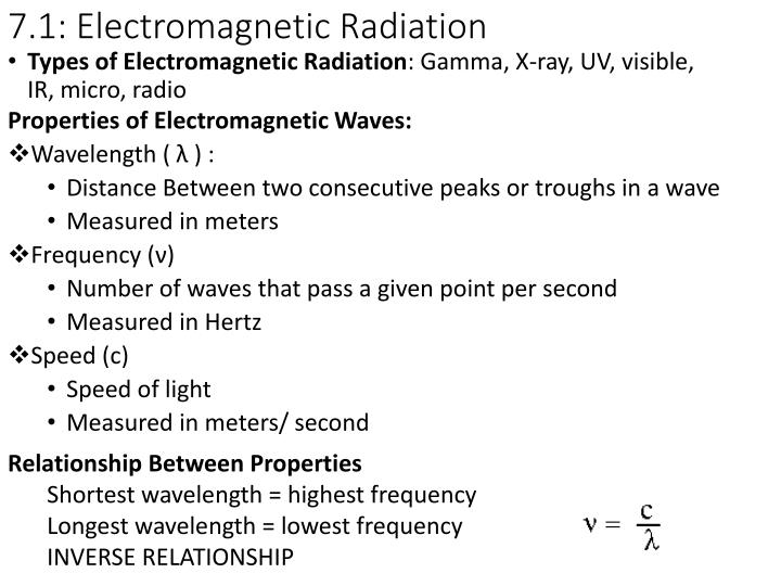 7 1 electromagnetic radiation