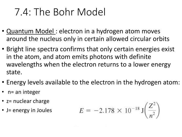 7.4: The Bohr Model