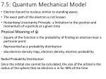 7 5 quantum m echanical m odel