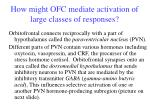 how might ofc mediate activation of large classes of responses