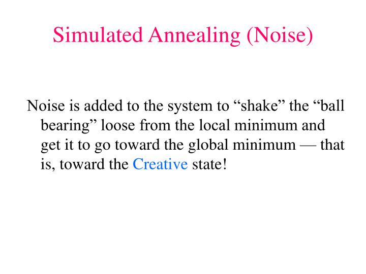 Simulated Annealing (Noise)