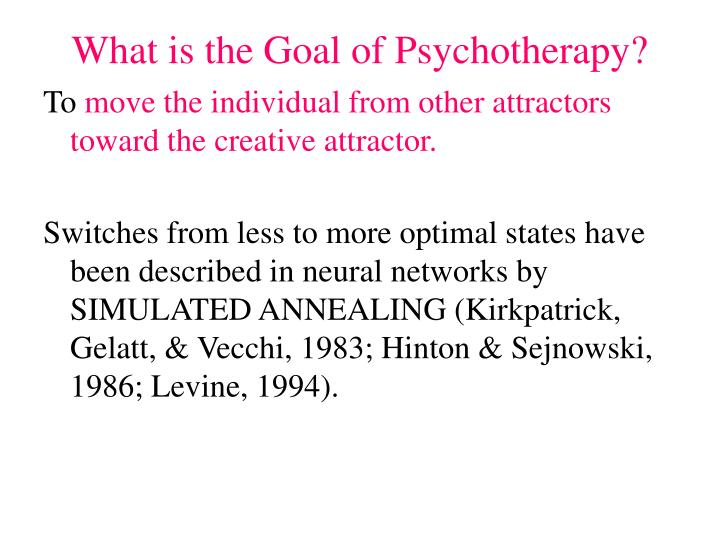 What is the Goal of Psychotherapy?