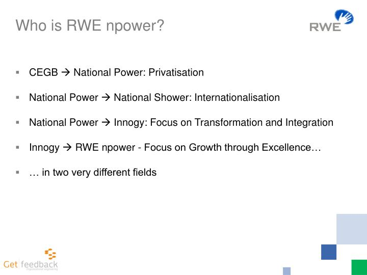 Who is RWE npower?