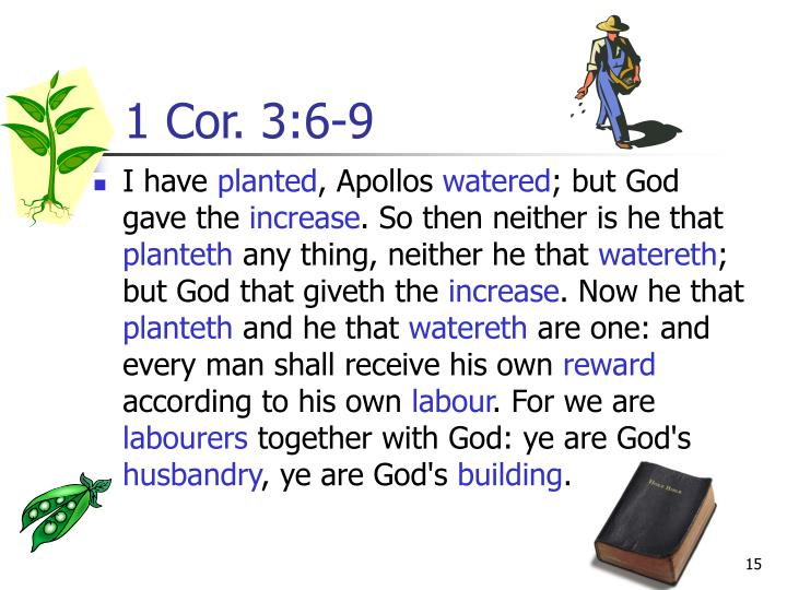 1 Cor. 3:6-9