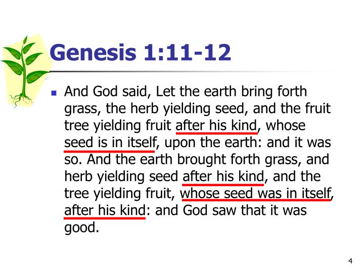 Genesis 1:11-12