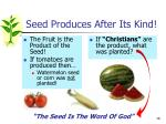seed produces after its kind1