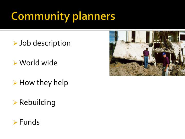 Community planners