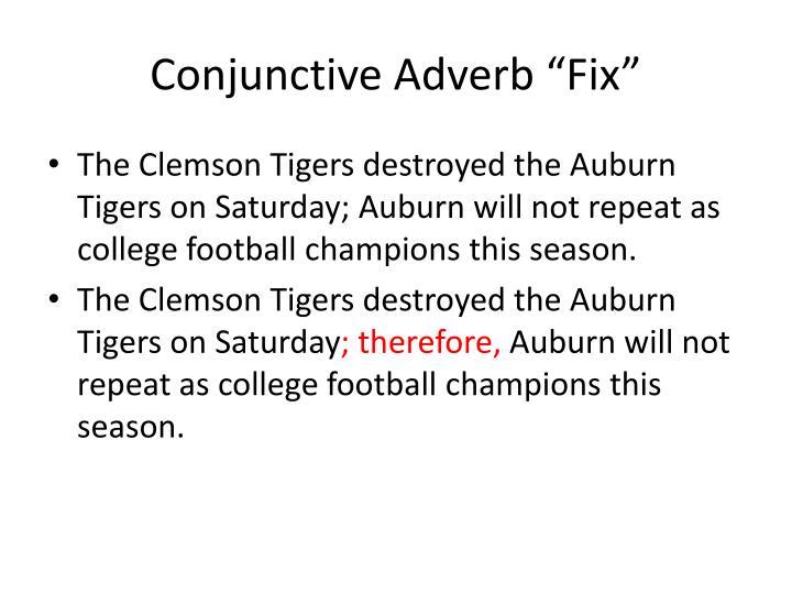 "Conjunctive Adverb ""Fix"""