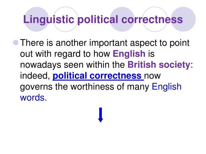 Linguistic political correctness