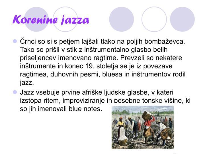 Korenine jazza