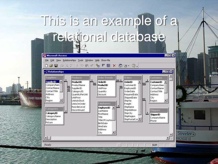 This is an example of a relational database