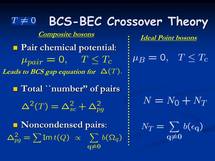 BCS-BEC Crossover Theory
