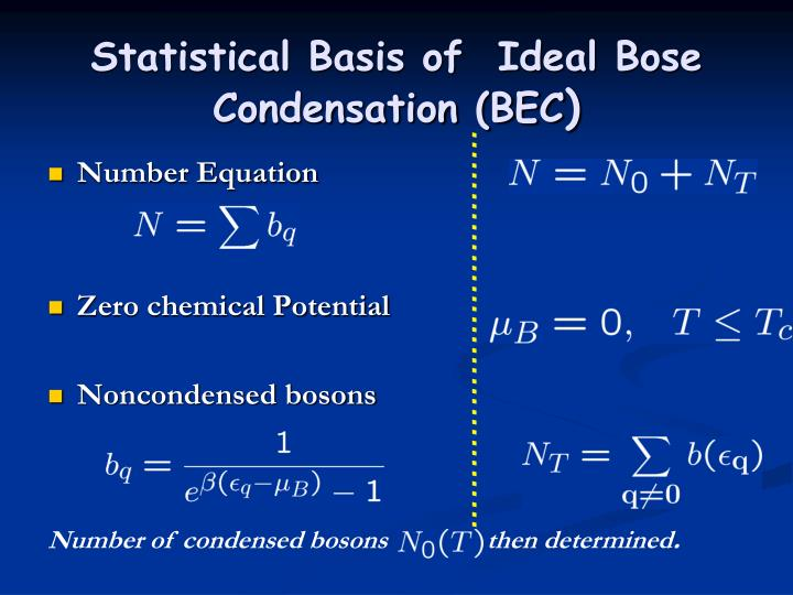 Statistical Basis of  Ideal Bose Condensation (BEC