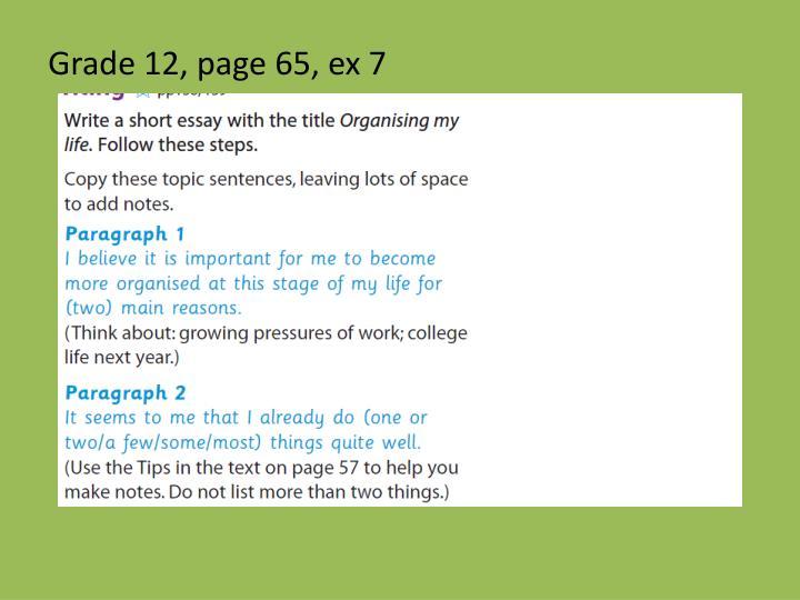 Grade 12, page 65, ex 7