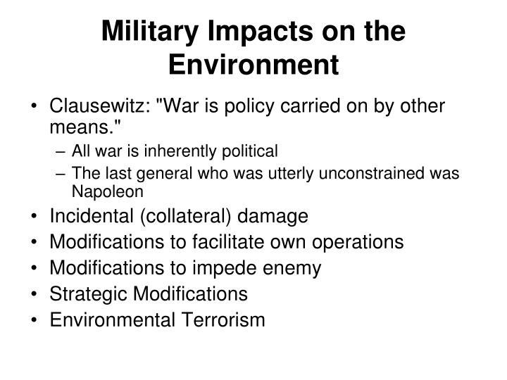 Military Impacts on the Environment