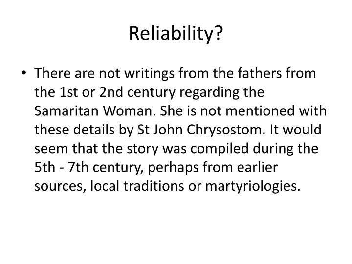 Reliability?