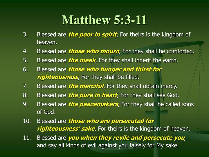 Matthew 5:3-11
