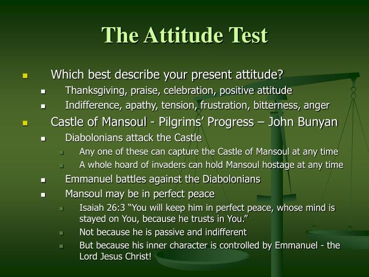 The Attitude Test