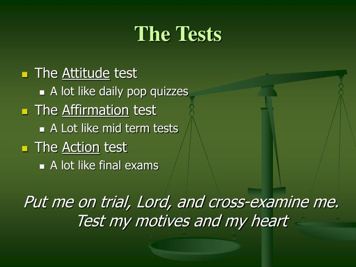 The Tests