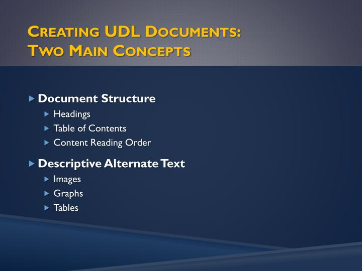 Creating UDL Documents: