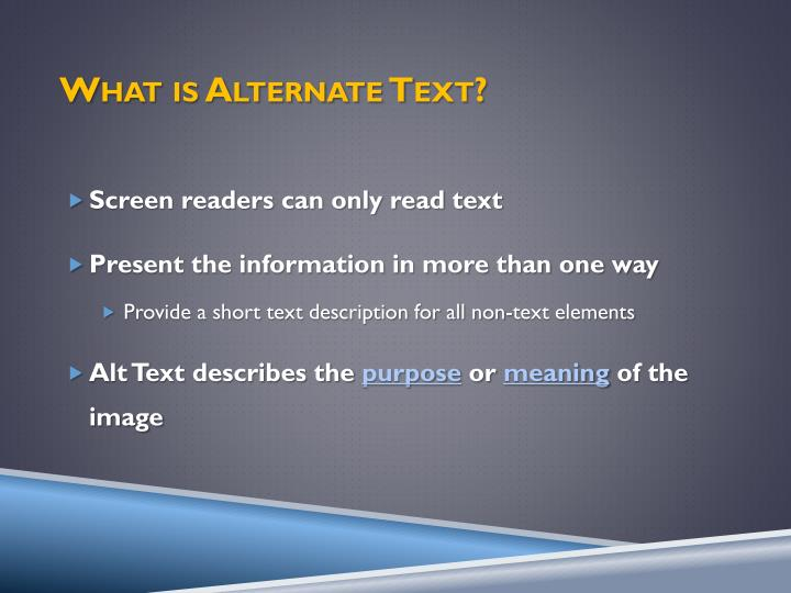 What is Alternate Text?