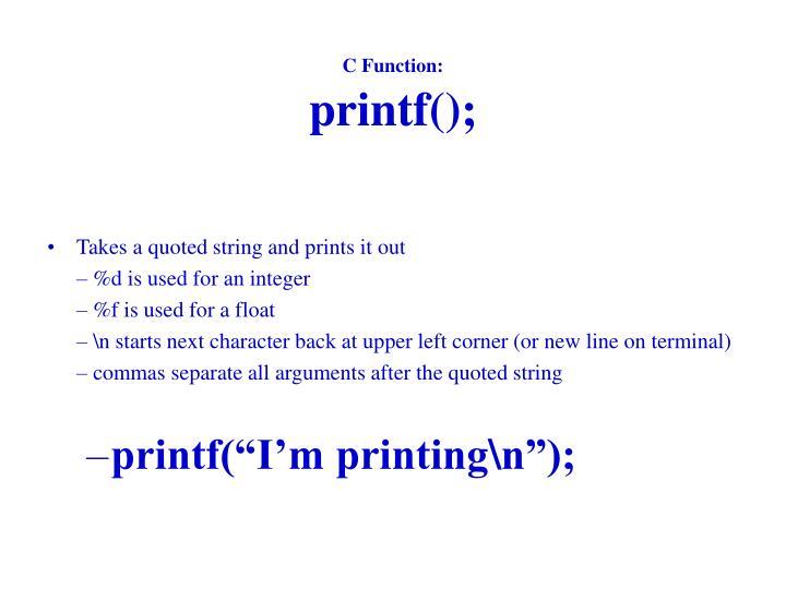 C Function: