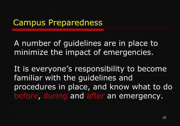 Campus Preparedness