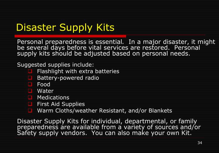Disaster Supply Kits