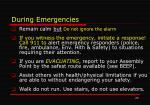 during emergencies