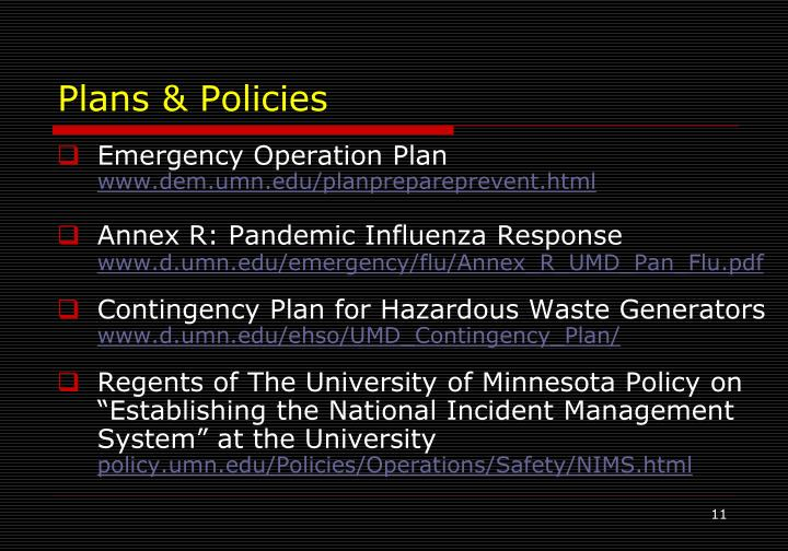 Plans & Policies