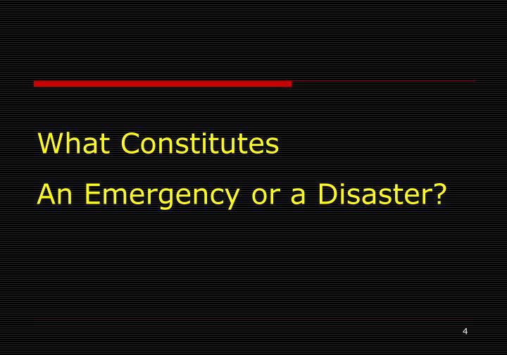 What Constitutes
