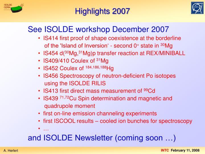 Highlights 2007