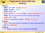 target and ion source r d last meeting1