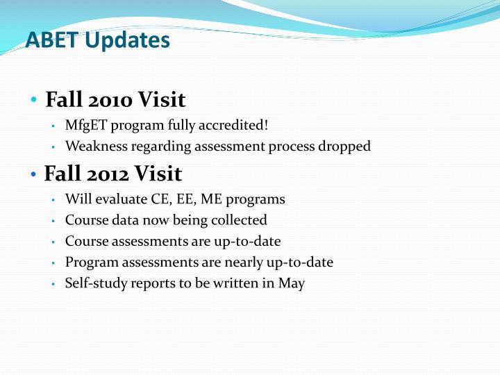 ABET Updates