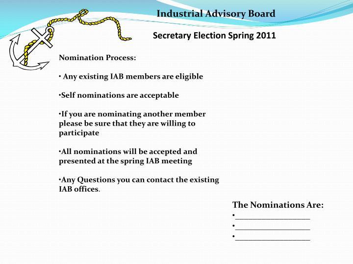 Secretary Election Spring