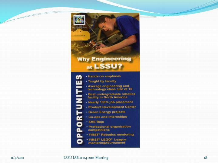 LSSU IAB 11-04-2011 Meeting