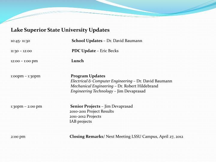 Lake Superior State University Updates
