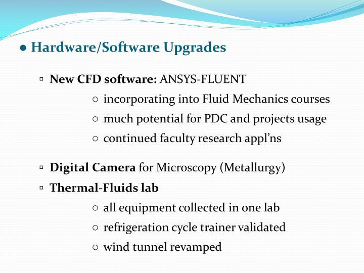 ● Hardware/Software Upgrades