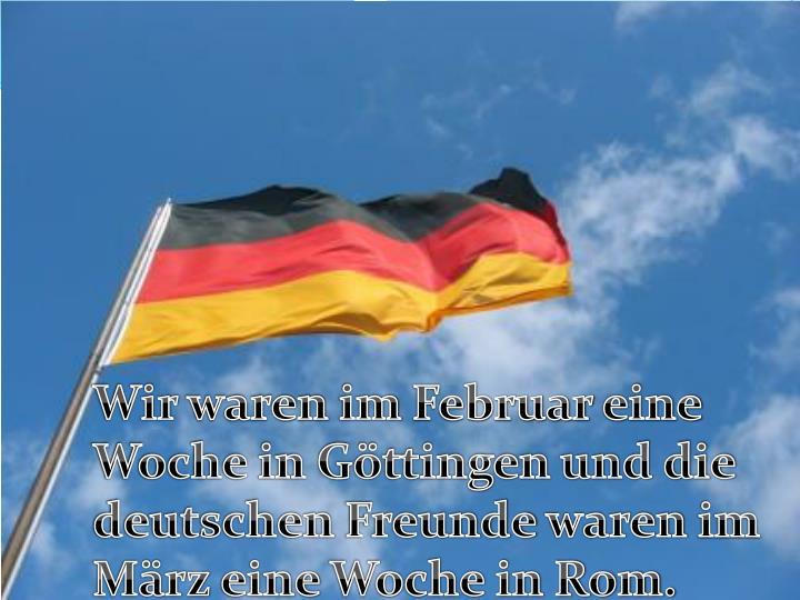 Der Austausch ist im Haus für eine Woche die Deutschen in Rom und umgekehrt