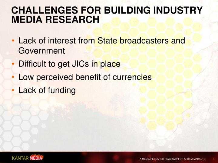 Challenges for building industry MEDIA RESEARCH