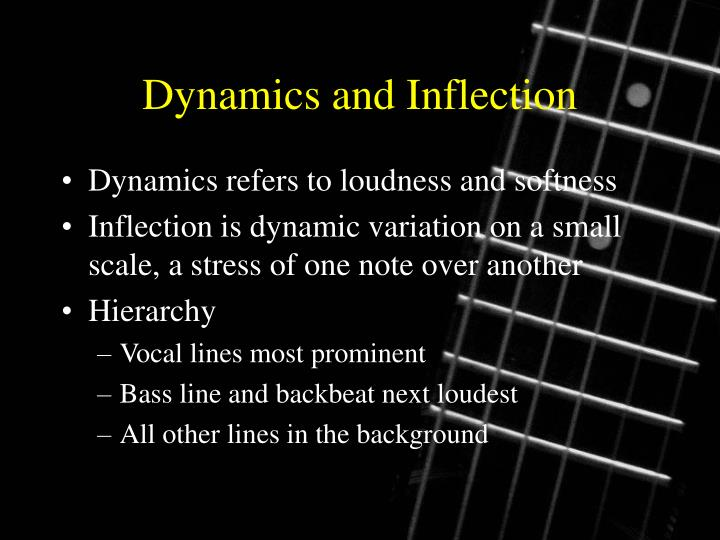 Dynamics and Inflection