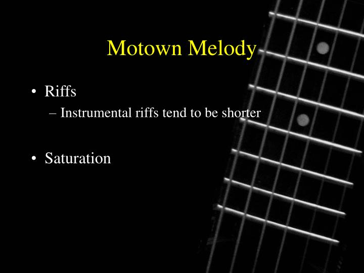 Motown Melody