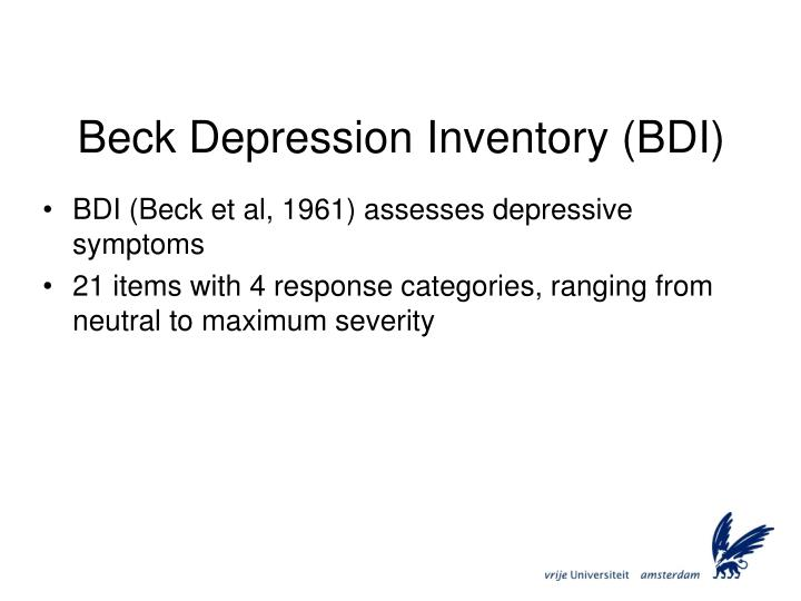 Beck Depression Inventory (BDI)